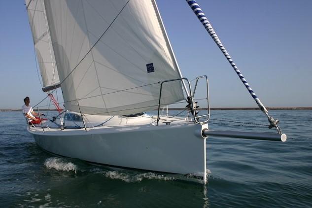 Custom bowsprit on a yacht