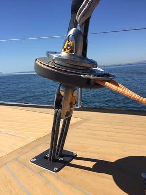Karver KF Staysail furler with 4-1 purchase