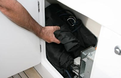 Storage of Fenders in a compartment