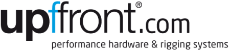 Upffront.com Logo - Performance hardware and rigging systems