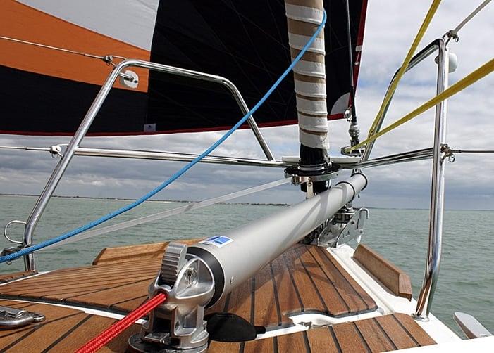 on deck bowspriton yacht