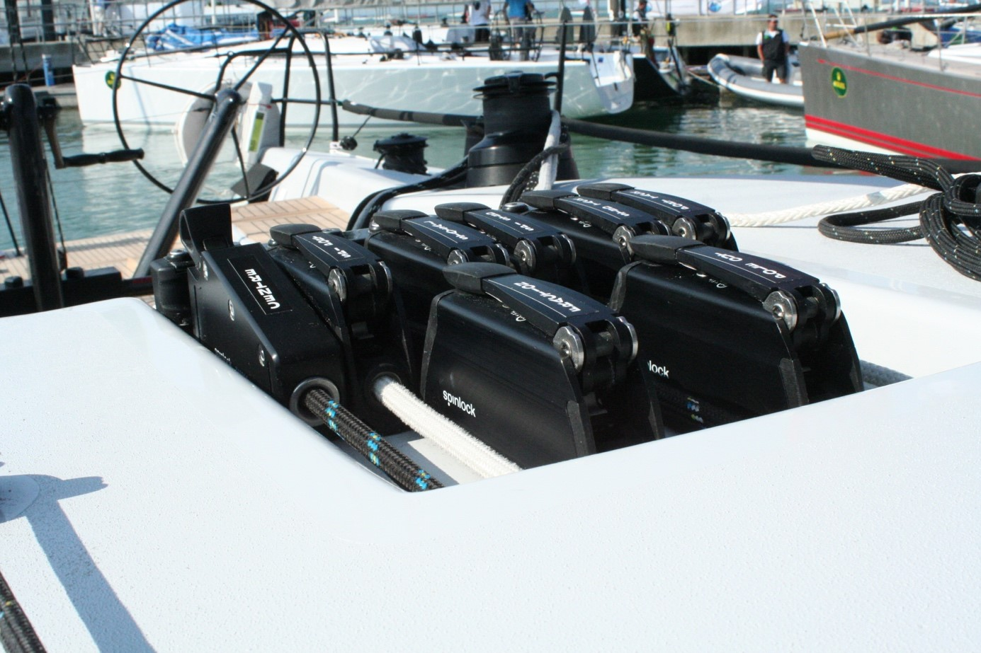 spinlock clutches on a boat